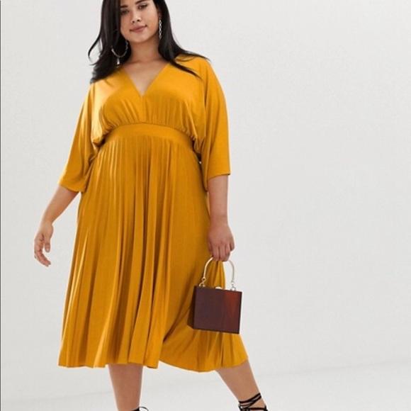 e92ff887b4 Dresses | Asos Design Curve Pleated Slinky Kimono Midi Dress | Poshmark